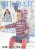 Sirdar Snuggly Baby Crofter Chunky - 4777 Sweaters Knitting Pattern